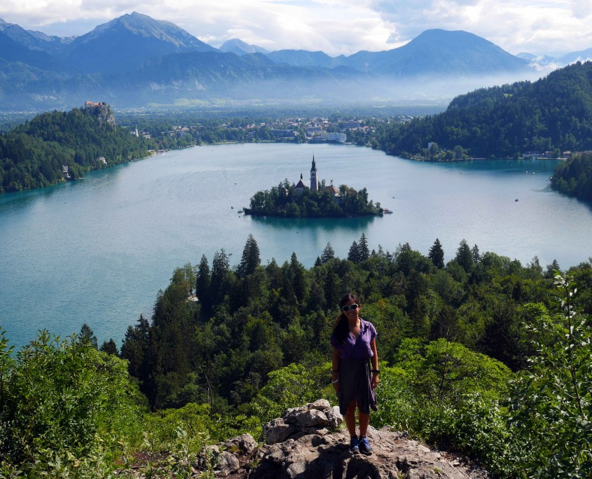 Me-at-the-Classic-view-point-of-Bled,-top-of-Ojstrica-Hill-Bled-Slovenia